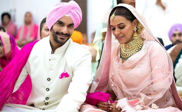 Neha Dhupia And Angad Bedi's Wedding Photos