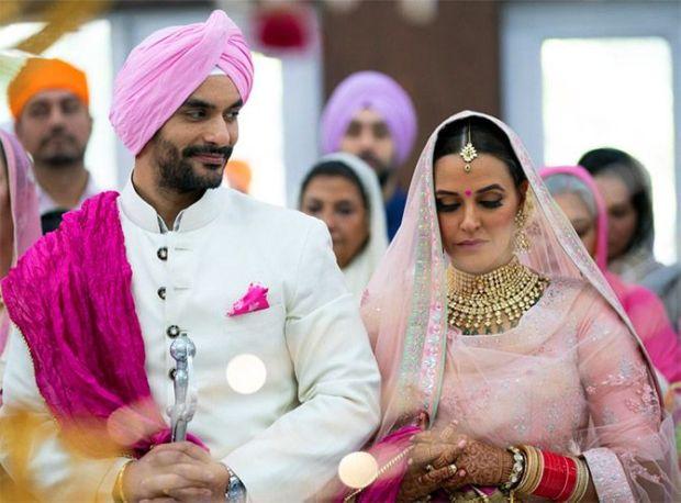 Neha Dhupia And Angad Bedi's Wedding Photos