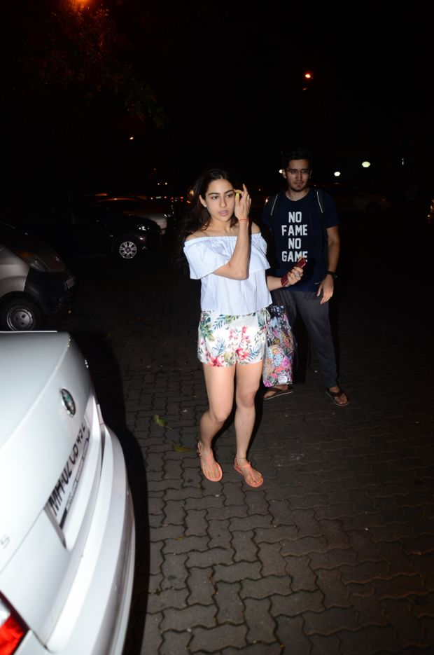 Pretty Sara Ali Khan Goes Floral Post Her Workout