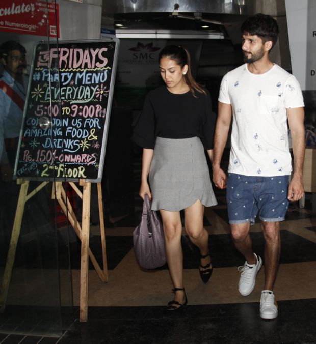 Shahid Kapoor And Mira Rajput Walk Hand-In-Hand On Dinner Date
