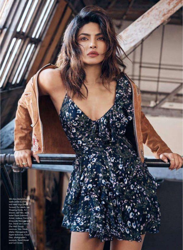 Priyanka Chopra Posing For Elle Canada Magazine