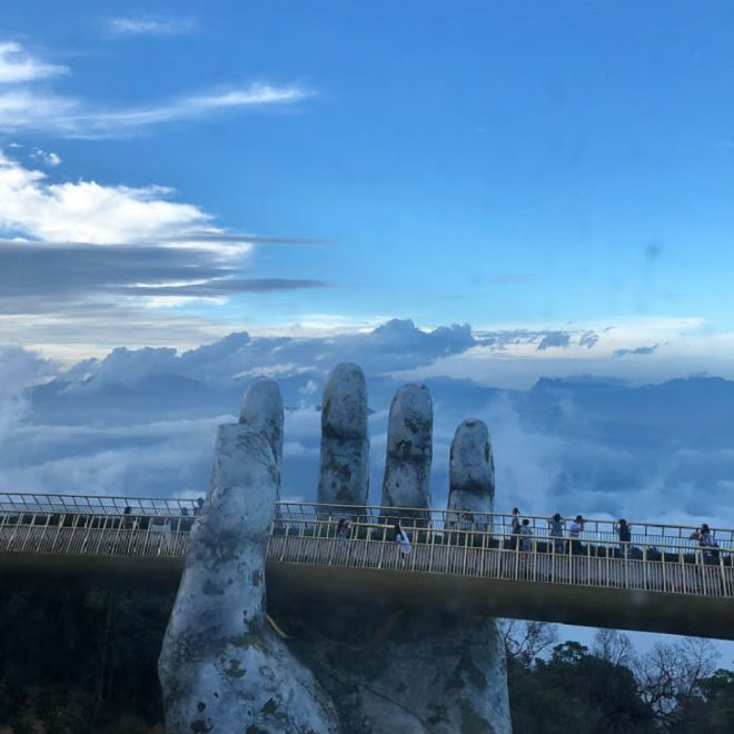 Amazing Golden Bridge On Ban Na Hills In Da Nang, Vietnam