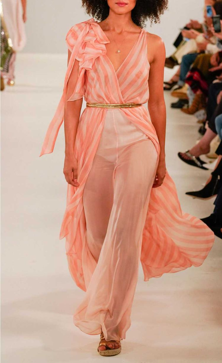 Nathalie Emmanuel Walks For Temperley London Spring Show 2019