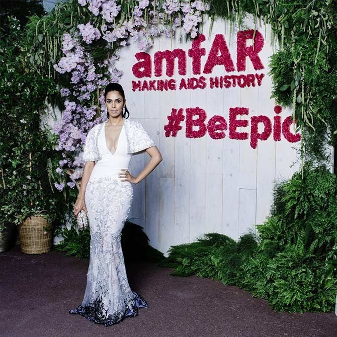 Mallika Sherawat Attended Ahe 2018 amfAR Gala