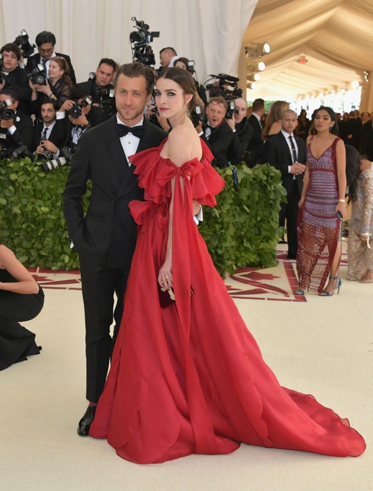 Bee Shaffer In Pure Red At The MET Gala 2018