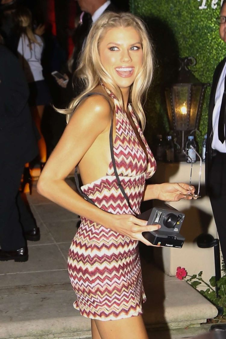 Charlotte McKinney Arrives At A Night Party