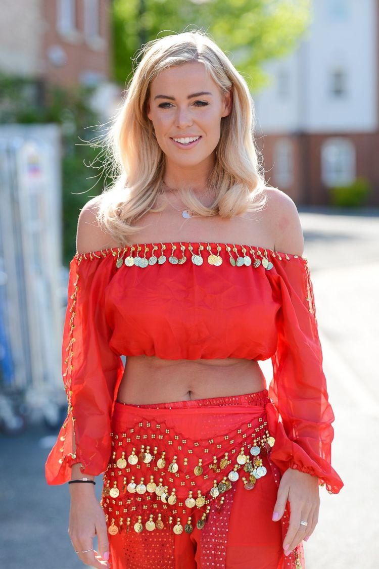 Chloe Meadows At 'The Only Way Is Essex' Filming An Arabian Nights Theme