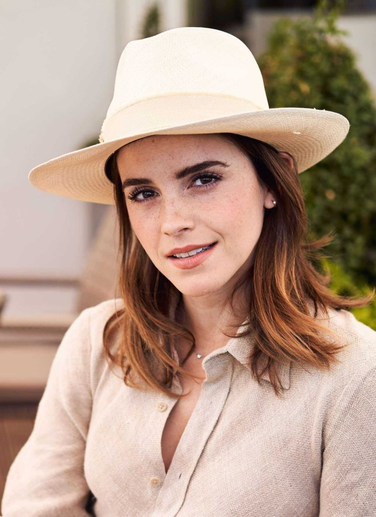 Emma Watson Attended The Wimbledon 2018 Men's Singles Final