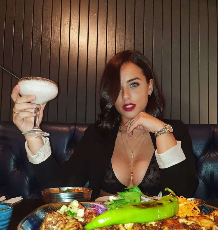 Georgia May Foote Dining Out In Manchester