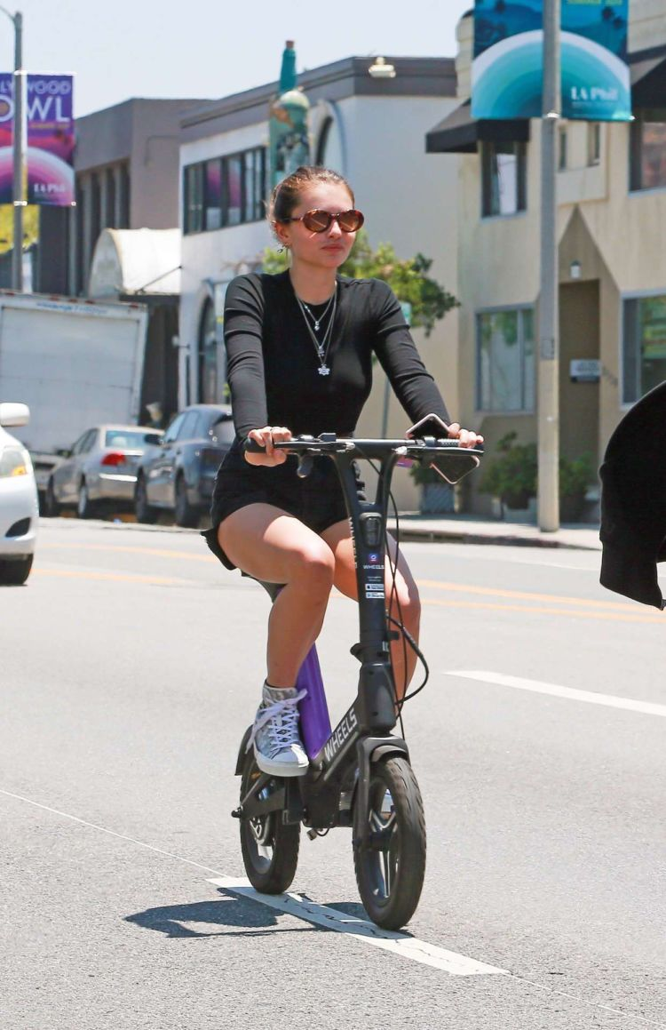 Thylane Blondeau Cycling Out In West Hollywood