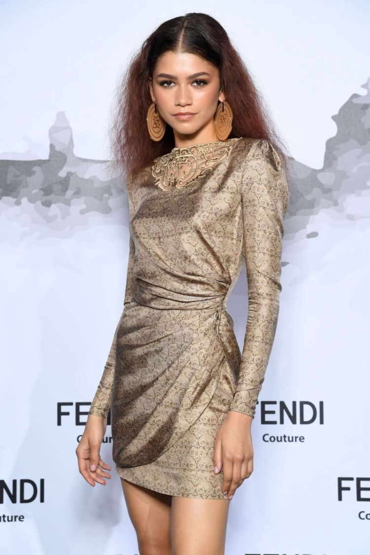 Zendaya Coleman Attends The Cocktail At Fendi Couture Fall Winter 2019/2020 In Rome