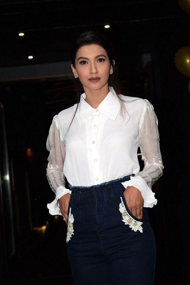 Gauhar Khan During The Launch Of Her 'Gauhargeous' Website