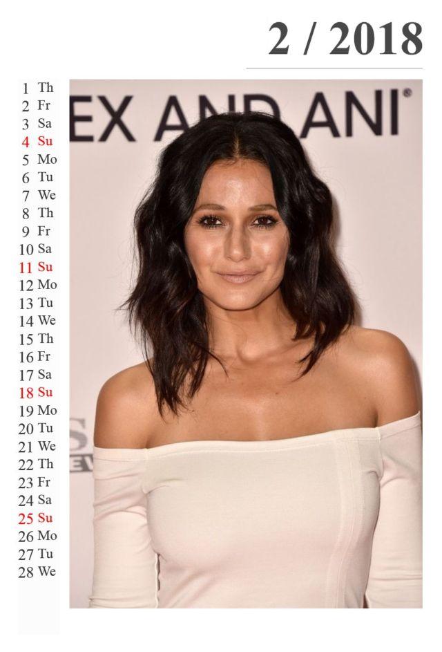 Click to Enlarge - Emmanuelle Chriqui Calendar Of 2018