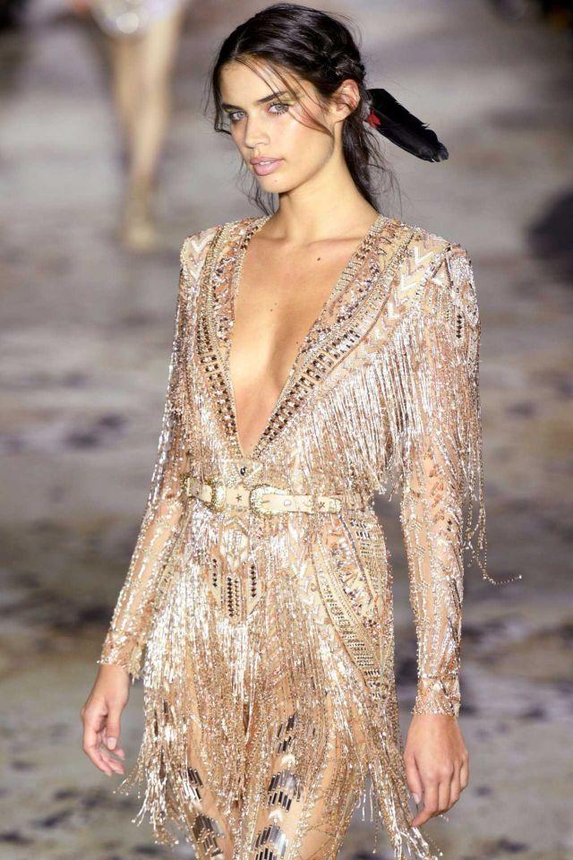 Sara Sampaio Walks The Ramp For Zuhair Murad Couture Fashion Show