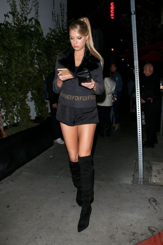 Charlotte Mckinney Candids In High Boots On Ladies Night
