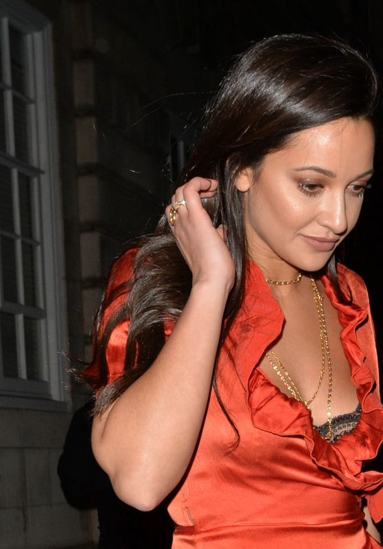 Roxie Nafousi Leaves Loulou's In Mayfair, London
