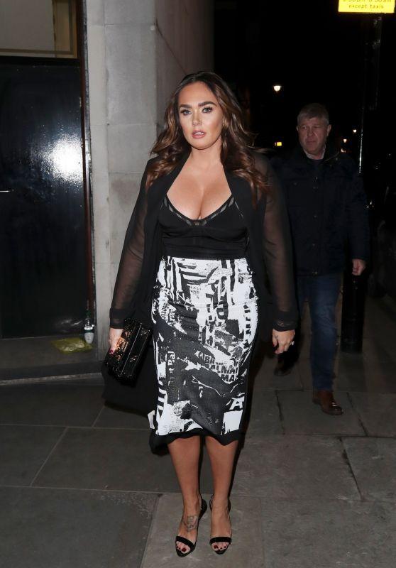 Tamara Ecclestone Leaving A Restaurant After Dinner At Mayfair