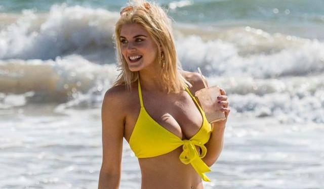 Ashley James Looks Stunning In A Yellow Bikini Glamistan Com Part 3