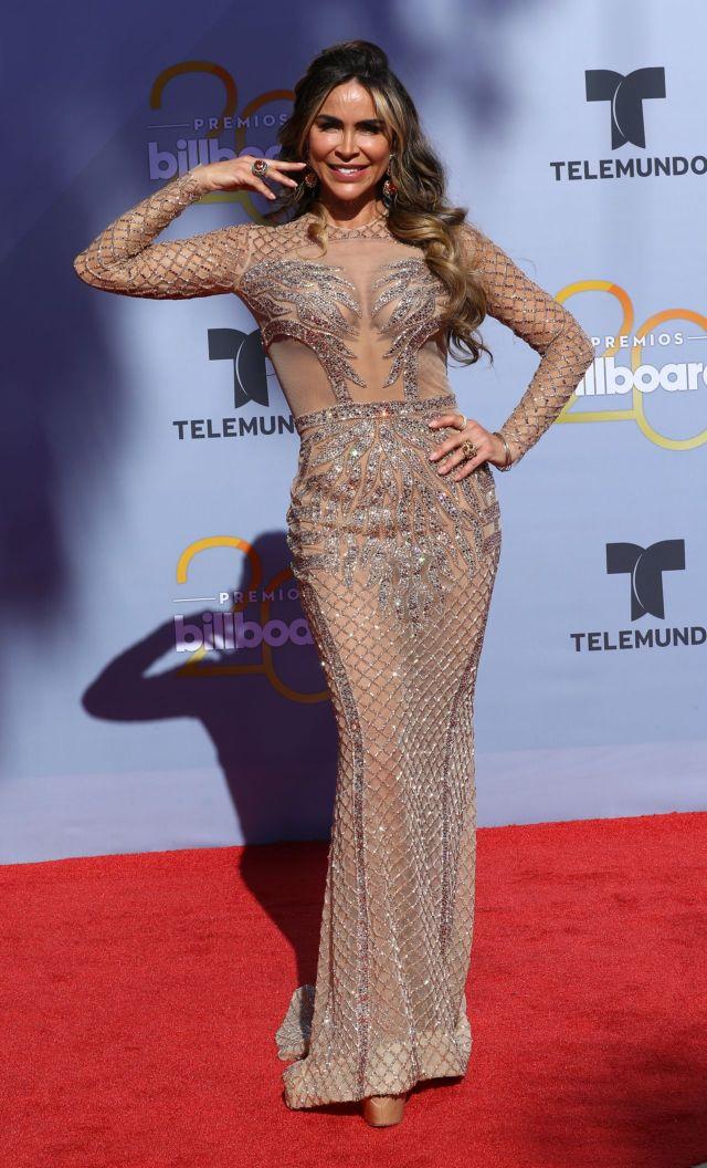 Aylin Mujica Pose In Style At Billboard Latin Music Awards