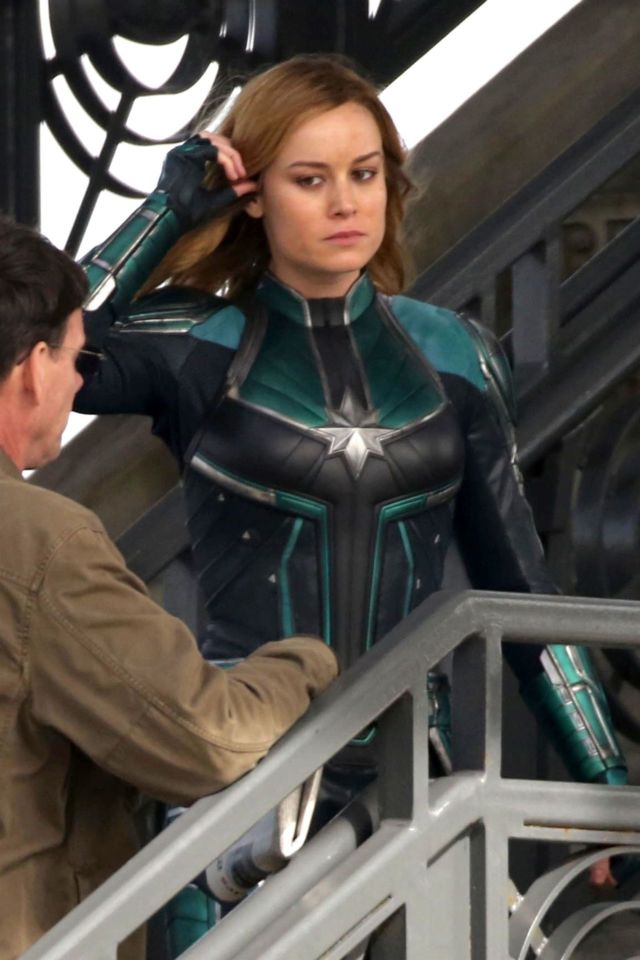 "Brie Larson Shooting On The Set Of 'Captain Marvel"" In LA"