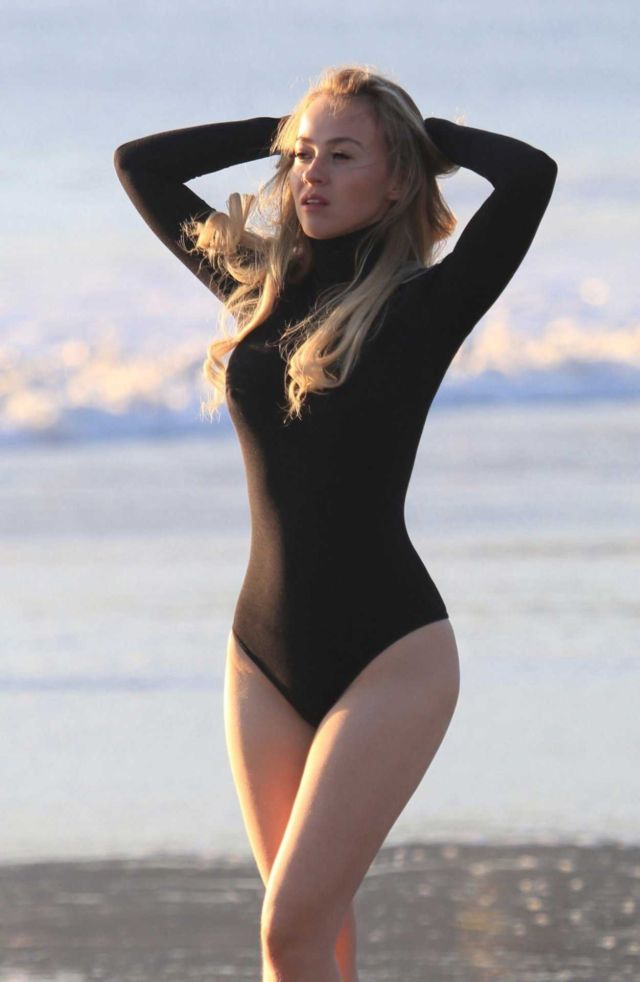 Ellen Alexander Swimsuit Photoshoot At Malibu Beach