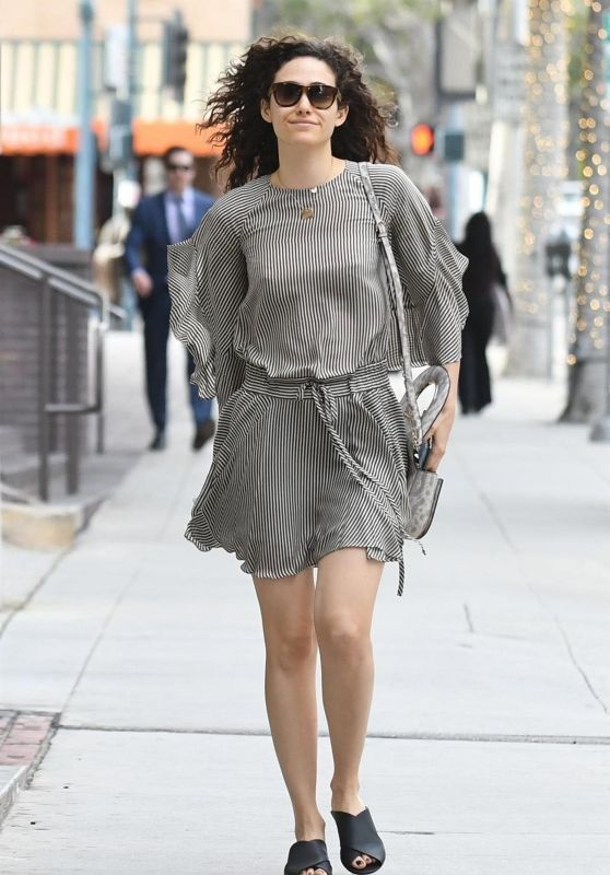 Emmy Rossum Looked Cool In Mini Dress