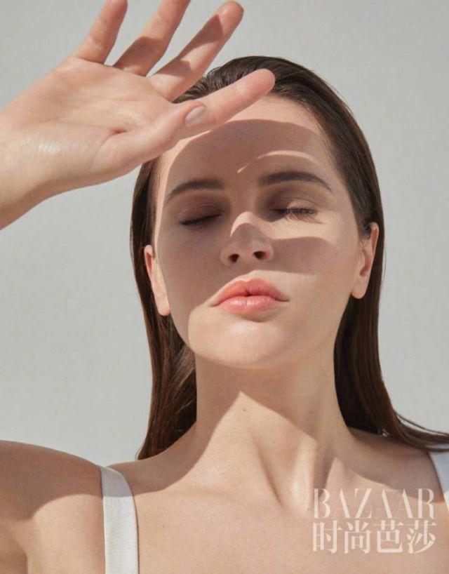 Felicity Jones Glams Up Harper's Bazaar China Magazine