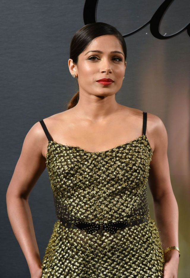 Freida Pinto Poses At Cartier's Bold and Fearless Event
