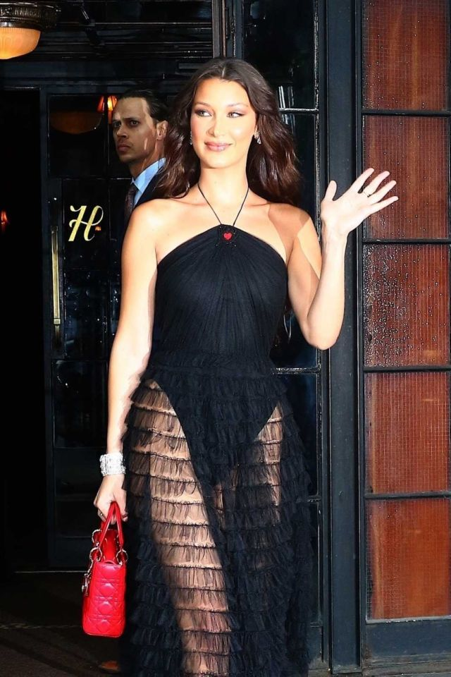Gorgeous Bella Hadid Outside The Bowery Hotel In NYC