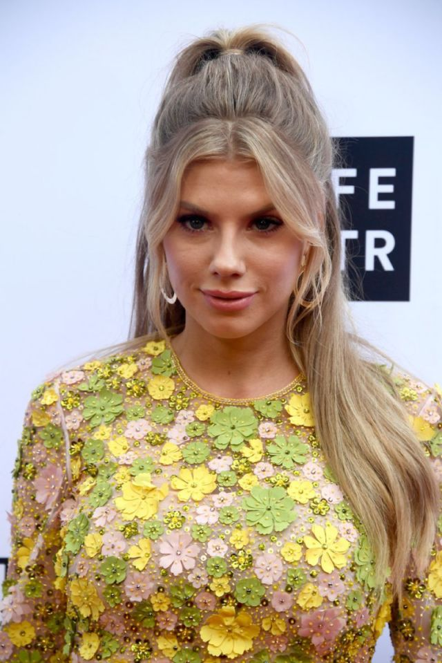 Charlotte McKinney In a Yellow Floral Dress At The Daily Front Row Fashion Awards
