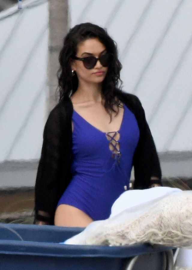 Shanina Shaik For A Swimsuit Photoshoot in Miami