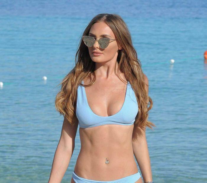 Georgie Clarke Posing With Style In A Bikini