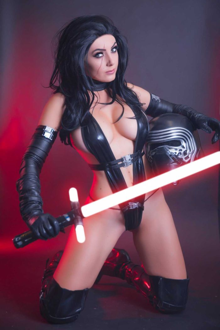 Jessica Nigri Poses For Kylo Ren Cosplay Photoshoot 2018