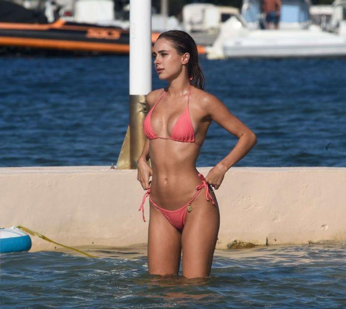 Kimberley Garner Enjoys Bikini Surfing At The Beach In St Tropez
