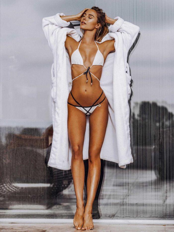 Kimberley Garner Photoshoot In A White Bikini
