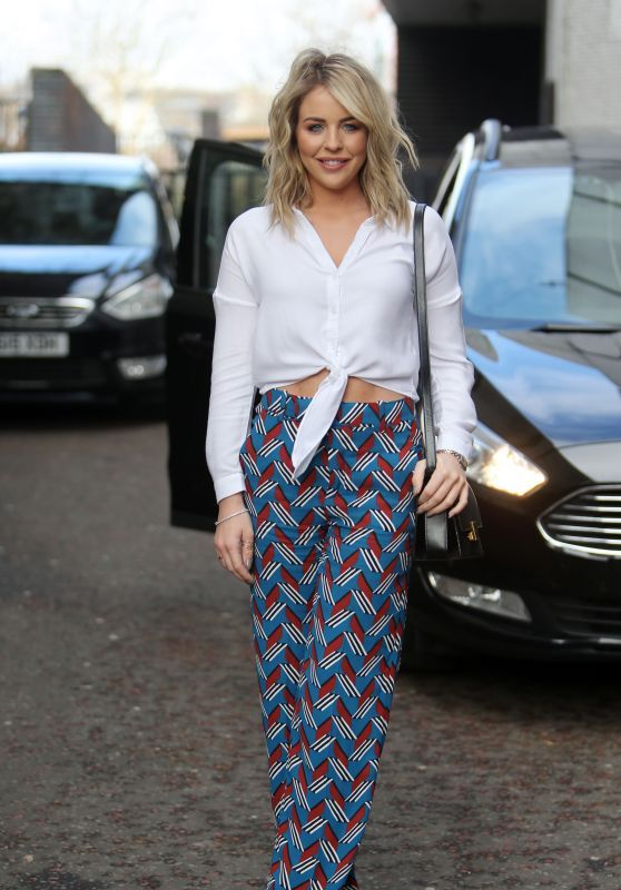 Lydia Bright Walks Outside ITV Studios In London
