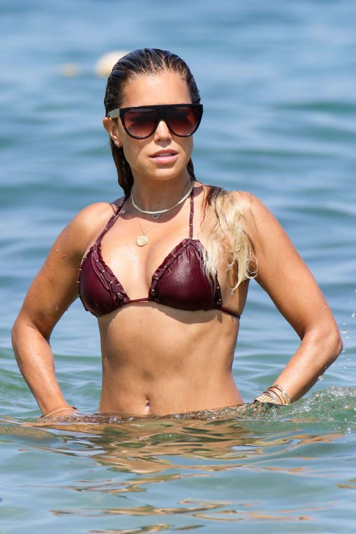 Sylvie Meis On A Bikini Vacation At The Beach In Saint Tropez