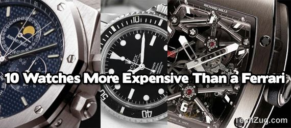 Top 10 Watches More Expensive Than A FERRARI